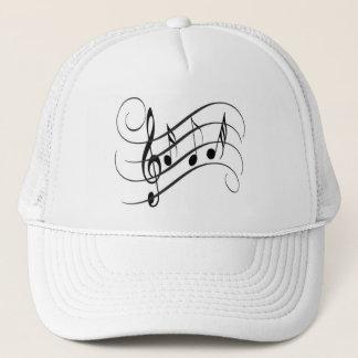 Cap of Designer Truck driver Musical Notes