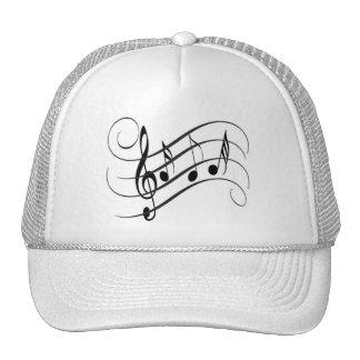 Cap of Designer Truck driver Musical Notes Trucker Hat