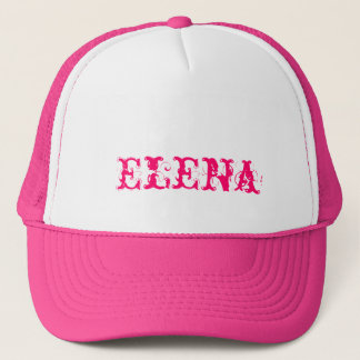 Cap of Elena with customized name