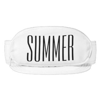 Cap-Sac fanny pack for your head, Summer Text Visor