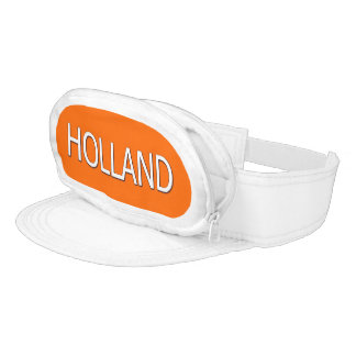 Cap-Sac met Holland in Wit Visor