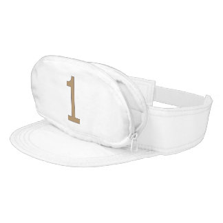 Cap-Sac with Golden Number One Visor