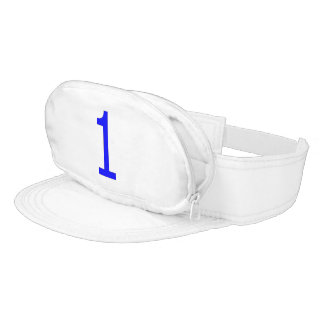 Cap-Sac with Royal Blue Number One Visor