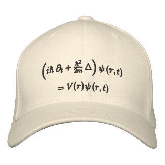Cap, Schrodinger wave equation, black thread Embroidered Baseball Hat