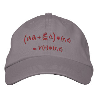 Cap, Schrodinger wave equation, red thread Embroidered Baseball Hat