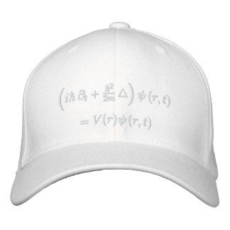 Cap, Schrodinger wave equation, white thread Embroidered Baseball Hat