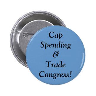 Cap Spending&Trade Congress! 2 Inch Round Button