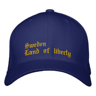 """Cap """"Sweden country of liberty """" Embroidered Hat"""