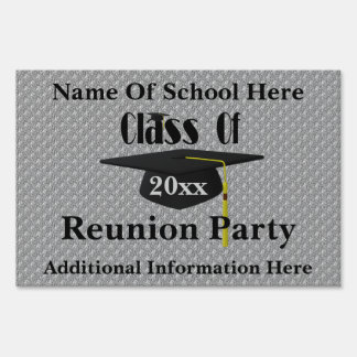 Cap Tassel School Reunion Party Yard Sign