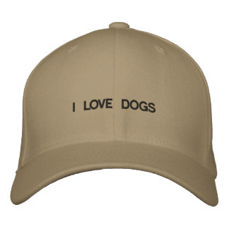 Cap that has I LOVE DOGS on it. Embroidered Hats