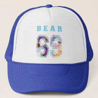 cap to bear 6 9 flowers blue