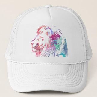 Cap to trucker, design of lion