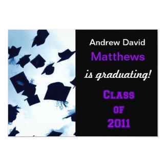 Cap Toss Black Purple Grad Announcement