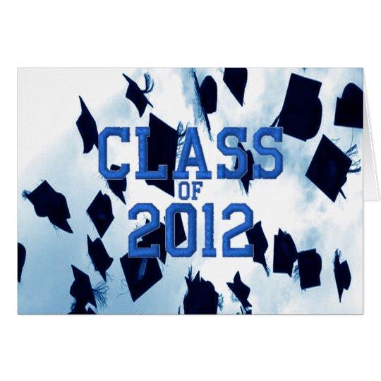 Cap Toss Blue Class of 2012 Grad Notecard