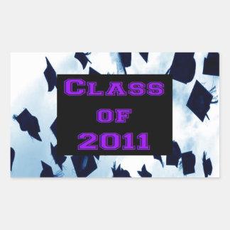 Cap Toss Grad Class of 2011 Purple Sticker Seal