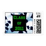Cap Toss Green Class of 2011 Grad Stamp