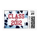 Cap Toss Red Class of 2012 Grad Stamp