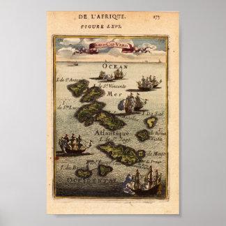 Cap Verde Islands Mallet 1683 Reproduction Poster