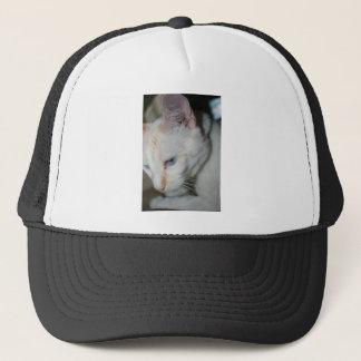 Cap, White Cat Trucker Hat