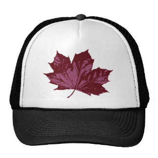 Cap with a Maple Leaf Symbol Trucker Hat