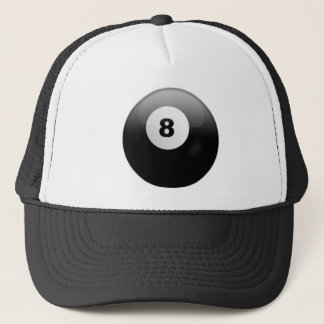 Cap with Ball 8 of Billiards