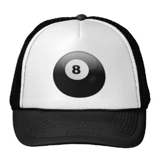 Cap with Ball 8 of Billiards Mesh Hat