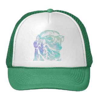 Cap with design of intellectual dog