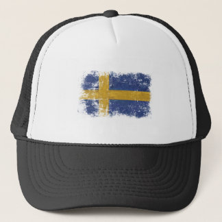 Cap with Dirty Vintage Flag from Sweden