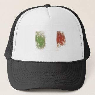 Cap with Dirty Vintage Italian Flag