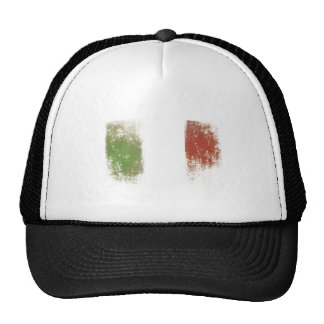 Cap with Dirty Vintage Italian Flag Trucker Hat