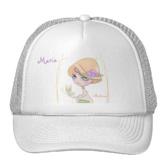 Cap with drawing for girl