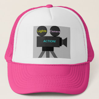 Cap with Movie Camera Image: Lights Camera Action!