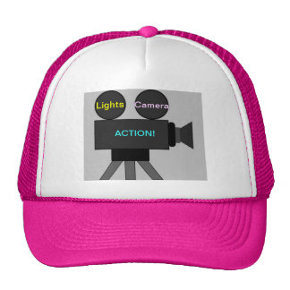 Cap with Movie Camera Image: Lights Camera Action! Trucker Hat