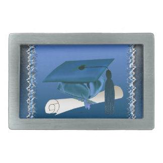 Cap with tassel & Diploma, Graduation Rectangular Belt Buckle
