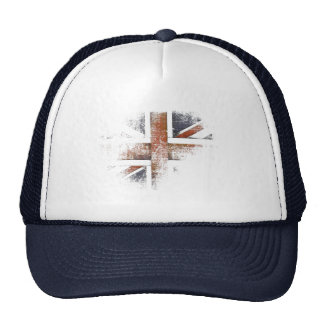 Cap with Worn Out Great Britain Flag Mesh Hats