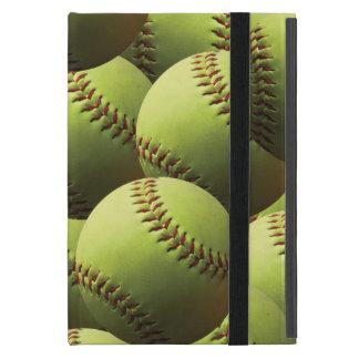 Capa amarilla del softball iPad mini protectores