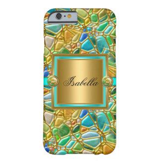 Capa azul del oro de la aguamarina del trullo funda barely there iPhone 6
