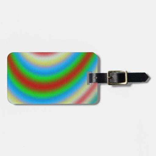 Capa colorida de línea modelo etiquetas bolsas