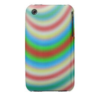 Capa colorida de línea modelo Case-Mate iPhone 3 cárcasas