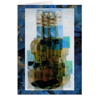Capa compuesta del triple del violín tarjeta de felicitación