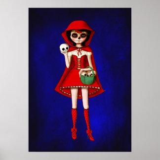 Capa con capucha de Dia De Muertos Red Poster