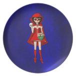 Capa con capucha de Dia De Muertos Red Platos Para Fiestas