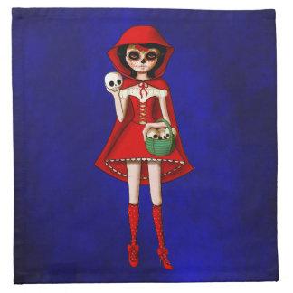 Capa con capucha de Dia De Muertos Red Servilleta De Papel