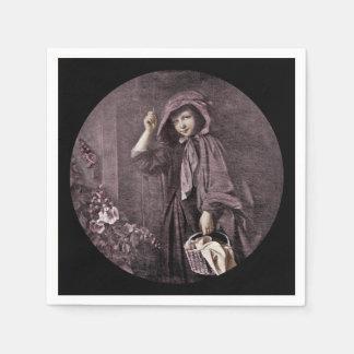 Capa con capucha en el Doorstop de las abuelas Servilleta Desechable