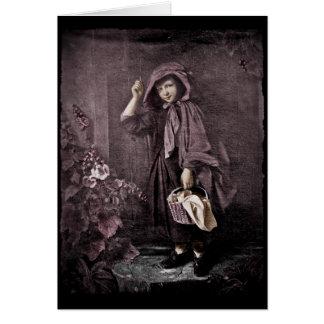 Capa con capucha en el Doorstop de las abuelas Tarjeta De Felicitación