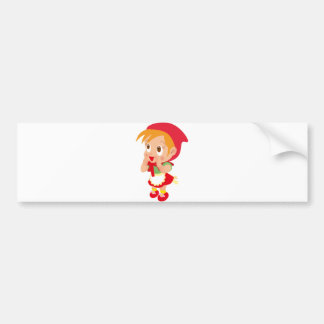 Capa con capucha roja pegatina de parachoque