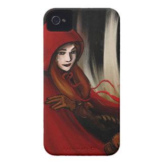 Capa con capucha roja funda para iPhone 4