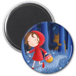 Capa con capucha roja - imanes imán redondo 5 cm