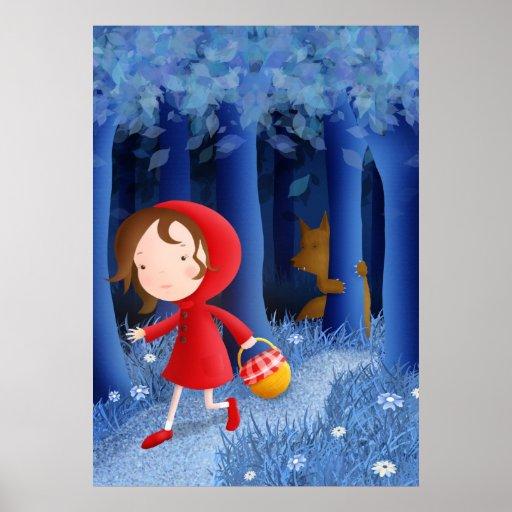 Capa con capucha roja - impresiones del poster