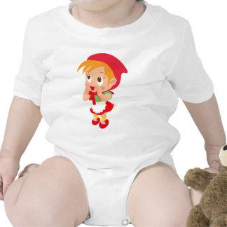 Capa con capucha roja traje de bebé